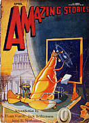 Amazing Stories Posters - Science Fiction Cover 1930 Poster by Granger