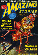 Amazing Stories Posters - Science Fiction Cover 1939 Poster by Granger