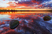 Scotland Photo Posters - Scottish Loch at Sunset Poster by John Farnan