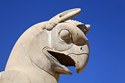 Griffin Photos - Sculpture of a Homa bird at Persepolis in Iran by Robert Preston