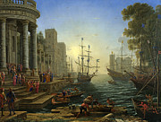 Famous Artists - Seaport with the Embarkation of Saint Ursula by Claude Lorrain