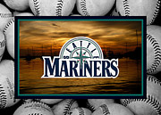 Baseball Bat Prints - Seattle Mariners Print by Joe Hamilton