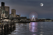 Large Format Posters - Seattle Summer Twilight Poster by Greg Sigrist