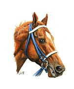 Secretariat Paintings - Secretariat by Pat DeLong