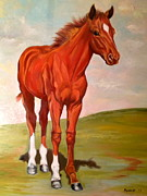 Secretariat Paintings - Secretariat-The Little Prince by Susan Henke