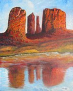 Cathedral Rock Paintings - Sedona Cathedral Rock by Vivian Haberfeld
