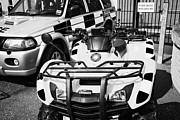 Selection Posters - Selection Of Police Vehicles Including Quad Atv On Display Outside Holywood Police Station On An Ope Poster by Joe Fox