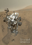 Self-portrait Photo Prints - Self-portrait Of Curiosity Rover Print by Stocktrek Images