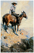 On The Plains Prints - Sentinel of the Plains Print by William Herbert Dunton