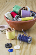 Sewing Supplies Posters - Sewing supplies Poster by Paulo Goncalves