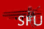 Canadian Sports Art Prints - SFU Art Print by Catf
