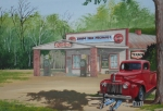 Pepsi Painting Prints - Shade Tree Mechanic Print by Sherd Maynard