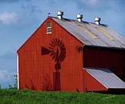 Pa Barns Posters - Shadow Barn Poster by Timothy Clinch