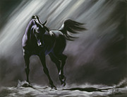 Black Horse Pastels Prints - Shadow Dancer Print by Kim McElroy