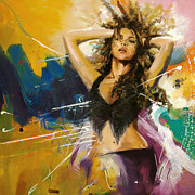 Hispanic Painting Metal Prints - Shakira Metal Print by Corporate Art Task Force