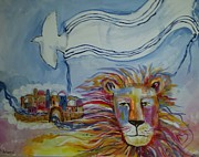 Shawl Painting Originals - Shalom by Paula Stacy Adams