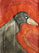 Crow Medicine Prints - Shaman original painting Print by Sol Luckman