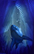 Sharks Painting Metal Prints - Shark Metal Print by Luis  Navarro