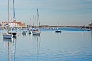 Sailboats In Harbor Photo Framed Prints - Sheepshead Bay Harbor Framed Print by Ann  Murphy