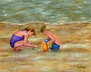 Seashells Paintings - Shell Collectors by Vicky Watkins