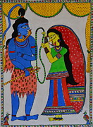 God Prints - Shiv Parvati Print by Shruti Shubham