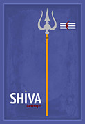 Religious Digital Art Prints - Shiva The Destroyer Print by Tim Gainey
