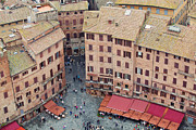 Town Square Prints - Siena Italy Architectural Photography Print by Kim Fearheiley