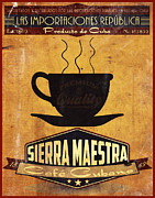 Havana Posters - Sierra Maestra Cuban Coffee Poster by Cinema Photography