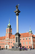Polish Culture Framed Prints - Sigismunds Column and Royal Castle in Warsaw Framed Print by Artur Bogacki