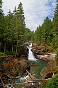 Mt Rainier National Park Prints - Silver Falls Print by Angie Vogel