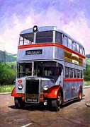Bus Paintings - Silver Star Leyland by Mike  Jeffries