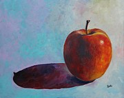 Red Delicious Framed Prints - Simple Shadow Framed Print by Eve  Wheeler
