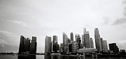 Black Commerce Art - Singapore Skyline by Shaun Higson