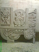 Artist Nandakumar Chinchkar - Siporex Carving Mural