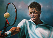 French Open Paintings - Sjeng Schalken by Paul  Meijering