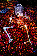 Halloween Metal Prints - Skeleton Rising from the Dead Metal Print by Amy Cicconi
