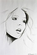 Fine Art Abstract Drawings Drawings Originals - Sketch of Beauty by Anna Androsovski