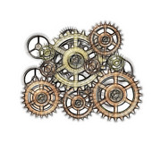 Cogwheel Digital Art Posters - Sketch Of Machinery Poster by Michal Boubin