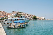 Skopelos Prints - Skopelos harbour Greece Print by David Fowler