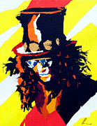 Slash Painting Posters - Slash Poster by Edgar Rafael