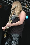 Slayer Prints - Slayer- Jeff Hanneman Print by Jenny Potter