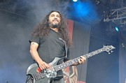Slayer Prints - Slayer - Tom Araya Print by Jenny Potter