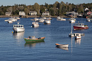 Portland Harbor Prints - Sleeping Boats Print by Jon Glaser