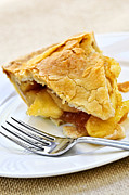Food And Beverage Prints - Slice of apple pie Print by Elena Elisseeva