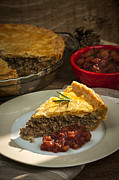 Sauce Photos - Slice of Tourtiere meat pie  by Elena Elisseeva