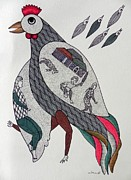 Gond Paintings - Sm 12 by Santosh Marabi