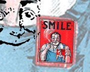 Digital Collage Photo Posters - Smile Poster by Edward Fielding