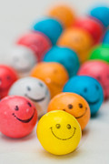 Bubble Posters - Smiley Face Gum Balls Poster by Amy Cicconi