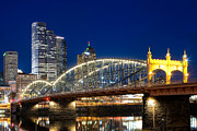 Pittsburgh Skyline. Prints - Smithfield Street Bridge Print by Emmanuel Panagiotakis