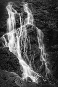 Gray And White Posters - Smokey Waterfall Poster by Jon Glaser